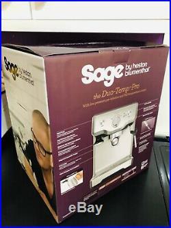 NEW Sage The Duo Temp Pro Espresso Coffee Machine BES810BSS
