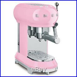 NEW Smeg 50's Retro Espresso Coffee Machine ECF01 Pink