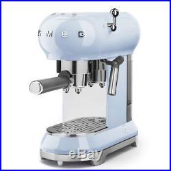 NEW Smeg 50s Retro Espresso Coffee Machine Pastel Blue