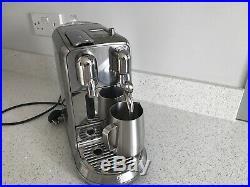 Nespresso Sage Creatista Plus Coffee Machine Stainless Steel. Excellent Cond