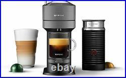 Nespresso Vertuo Next Coffee & Espresso Machine W Aeroccino by De'Longhi (Gray)