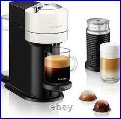 Nespresso Vertuo Next Premium Coffee Machine White with Aeroccino 3 Milk Frother