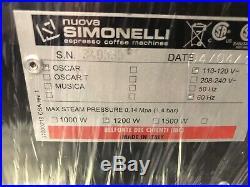 Nuova Simonelli Professional Oscar Espresso / Coffee Machine Black Excellent