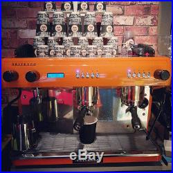 Orange Britesso Machine G10 Group 2 Automatic Espresso Coffee + Manual Grinder