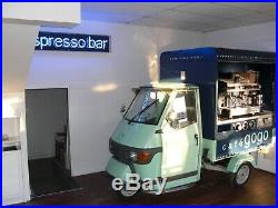 Piaggio Espresso Bar Scooter With Coffee Machine Instant Business for Coffee