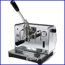 Ponte Vecchio LUSSO Chrome Lever Espresso Cappuccino Coffee Maker Machine 110V