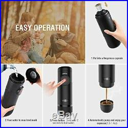 Portable Espresso Machine Boils Water Electric Coffee Maker Rechargeable Battery