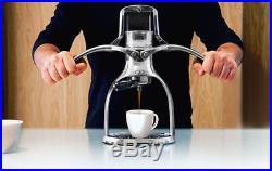 Presso Coffee Maker Espresso Machine Polished Aluminium ROK Manual Coffee Maker