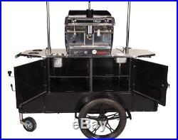Professional Coffee Cart Astoria Espresso Machine Equipped Custom Made in EU