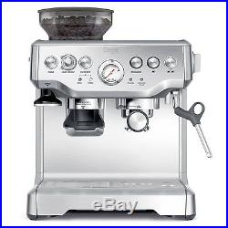 Professional Coffee Machine Silver Grinder Espresso Cup Warmer Programmable