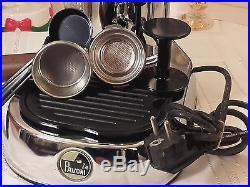 RARE La Pavoni Professional PHL chrome wood espresso lever machine lever coffee
