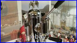 RARE Zacconi Riviera CHROME brass SPRING coffee lever espresso machine italy