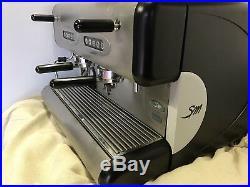 REFURBISHED commercial 2 group espresso coffee machine La San Marco 85 Sprint E