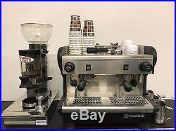 Rancilio Espresso Machine 2 Group + Grinder, FloJet, Jugs, Knockout Box & Tank