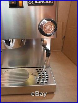 Rancilio Miss Silvia Espresso Machine Coffee Maker Stainless Steel Italy 8 Cups