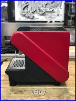 Rancilio S24 1 Group Red Espresso Coffee Machine Barista Cafe Grinder Beans Milk