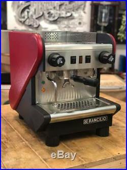 Rancilio S24 1 Group Red Espresso Coffee Machine Restaurant Cafe Barista Latte