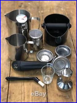Rancilio Silvia 1 Group Espresso Coffee Machine+rancilio Rocky Grinder With Kit