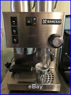 Rancilio Silvia Coffee Machine With Rock Grinder Combo And Accessories
