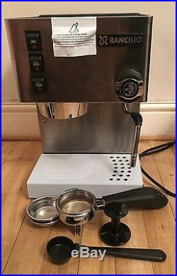 Rancilio Silvia E Espresso Coffee Machine 2016