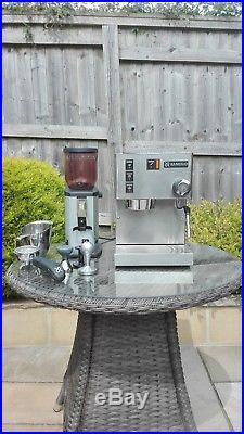 Rancilio Silvia E Espresso Machine, Iberital Grinder and accessories