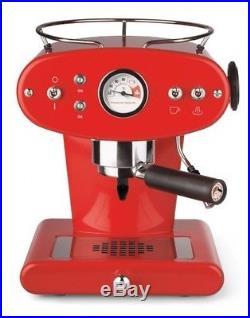 Retro Espresso Cappuccino Coffee Machine Red 1.2L Tank 18 Bar Pump Auto Refill