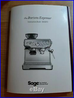 SAGE the Barista Pro 1680W 15 Bar Espresso Coffee Machine Brushed Stainless S