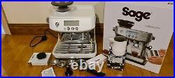 SAGE the Barista Pro Espresso Coffee Machine White Motta jug and distribution
