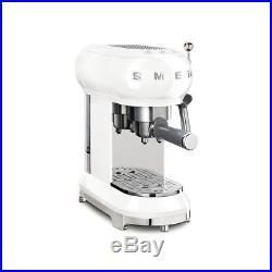 SMEG 50's Retro Style Aesthetic ECF01WHUK Espresso Coffee Machine White