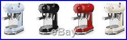 SMEG ECF01 50's Retro Style Espresso Coffee Machine CREAM 2 Year Guarentee