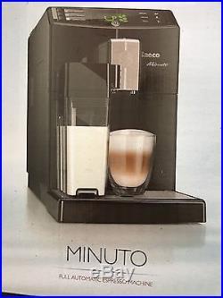Saeco Minuto HD8763 Bean to Cup Espresso Machine, Brews 7 coffee varieties