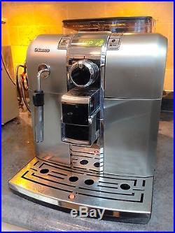 Saeco Syntia Superautomatic Espresso Coffee Machine Stainless Steel Finish
