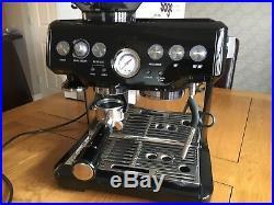 Sage BES875BKS The Barista Express Espresso Coffee Machine 15 bar Black Burr