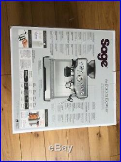 Sage BES875UK The Barista Express Espresso Coffee Machine 15 bar Brushed Steel