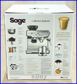 Sage BES875UK The Barista Express Espresso Coffee Machine inc Milk Jug