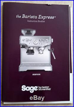 Sage Barista Express Bean-to-Cup Coffee Espresso Machine, Silver
