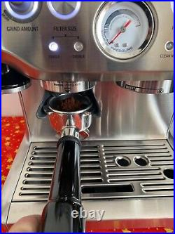 Sage Barista Express Bean-to-Cup Coffee Machine, BES875UK, Stainless Steel