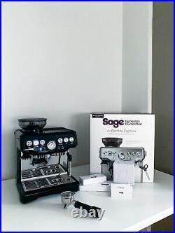 Sage Barista Express Espresso Coffee Machine Sesame Black