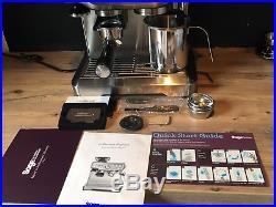 Sage Barista Express Espresso Coffee Machine Silver (BES870UK) Warranty Mar 19