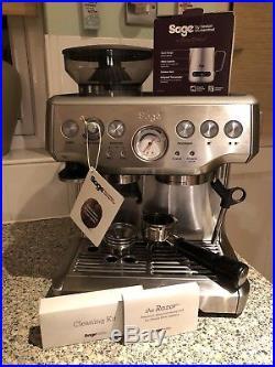 Sage Barista Express Espresso Maker Coffee Machine BES870UK Silver RRP £600