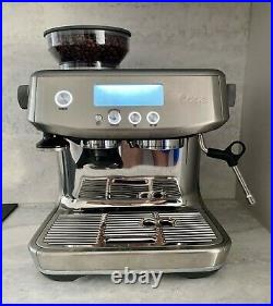 Sage Barista Pro Coffee Machine, Silver, Used, Perfect Condition, All parts incl