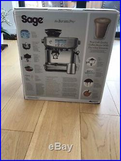Sage Barista Pro Espresso Coffee Machine in Black Truffle SES878BTR K9