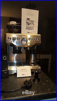 Sage By Heston Blumenthal BES870UK The Barista Express Espresso Coffee Machine