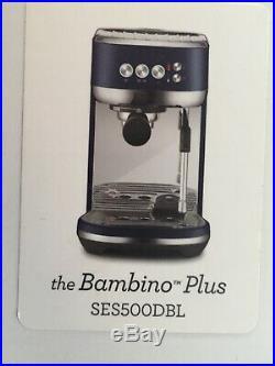 Sage Coffee Machine'the Bambino' SES500 Damson Blue