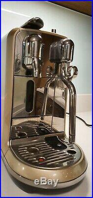 Sage Creatista Nespresso Coffee Pod Machine. Champagne