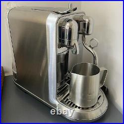 Sage Nespresso Creatista Plus Coffee Machine Brushed Stainless Steel BNE800