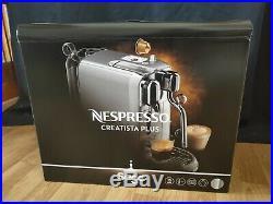 Sage Nespresso Creatista Plus Coffee Machine Brushed Stainless Steel Brand New