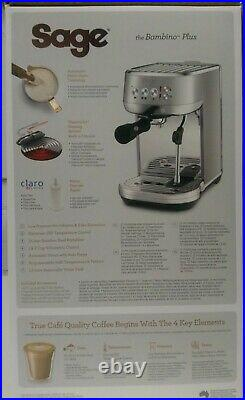 Sage The Bambino Plus Coffee Machine Stainless Steel (SES500BSS)