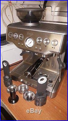 Sage The Barista Express BES870UK Espresso Coffee Machine & Grinder LESS BREW