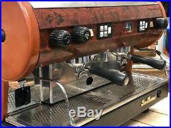 San Marino Lisa 2 Group Bier Wood Espresso Coffee Machine Cafe Restaurant Latte